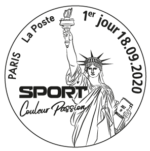cachet bloc timbres sport 2020