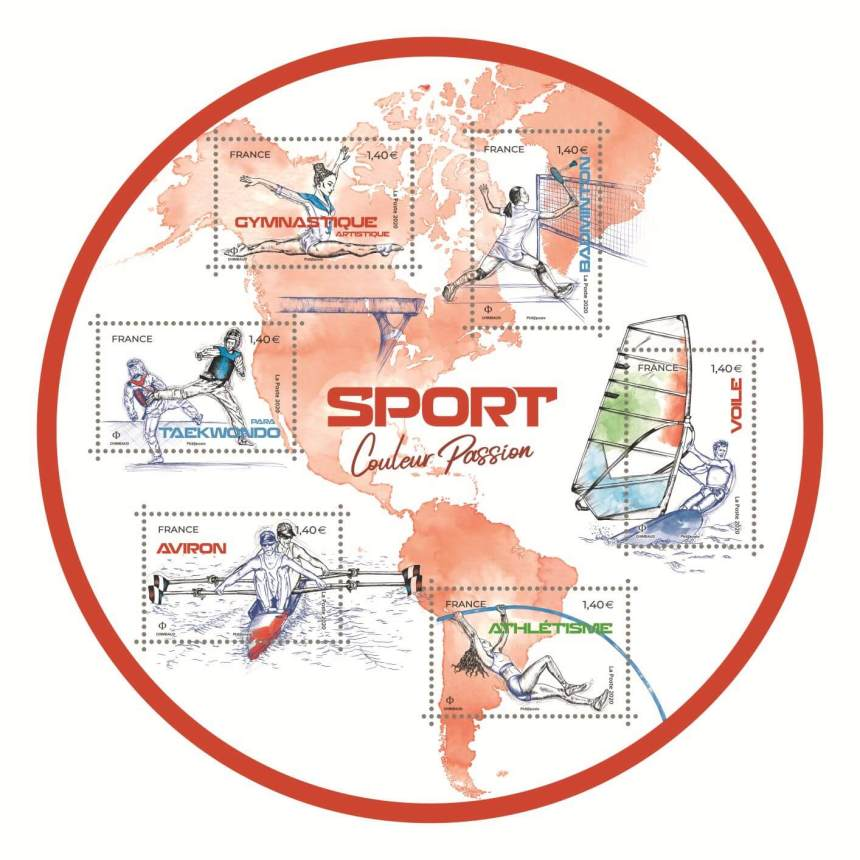 bloc timbres sport 2020 rouge