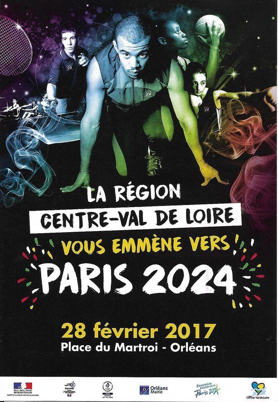 Carte postale Paris 2024 région Centre-Val de Loire