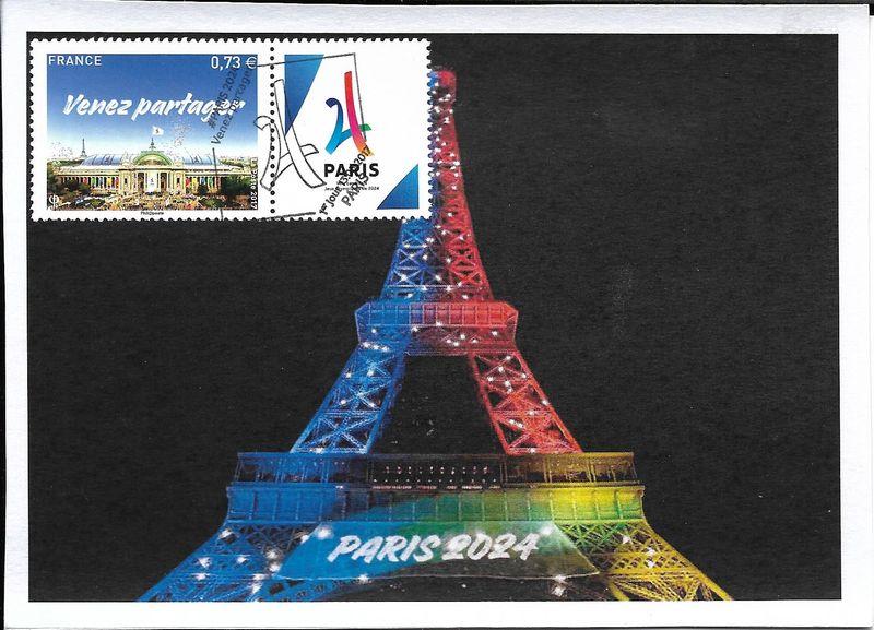 Carte postale tour Eiffel Paris 2024 1er jour 13/05/2017