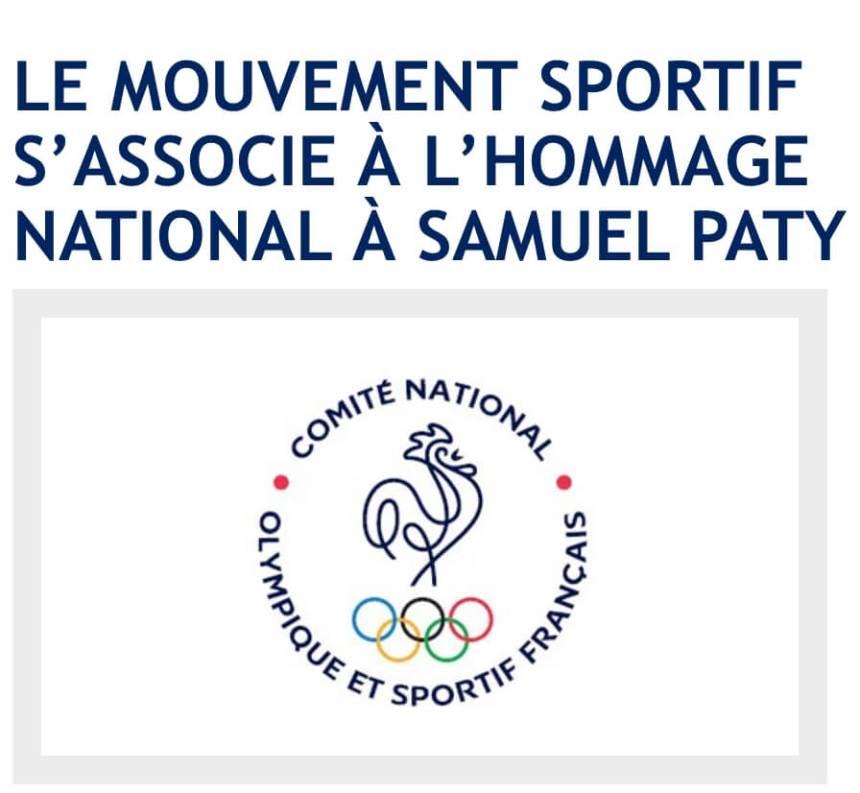 Samuel Paty hommage du mouvement sportif