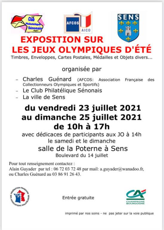 Exposition Olympique Sens 2021