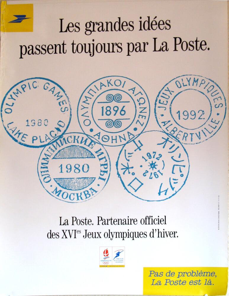 Affiche La Poste Club Coubertin