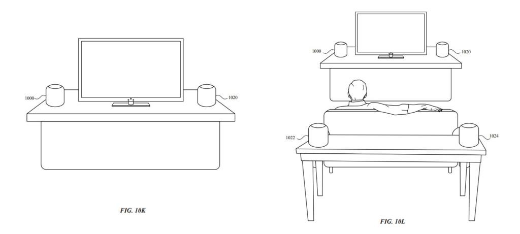 Quattro HomePod per un sistema surround? Ecco il brevetto