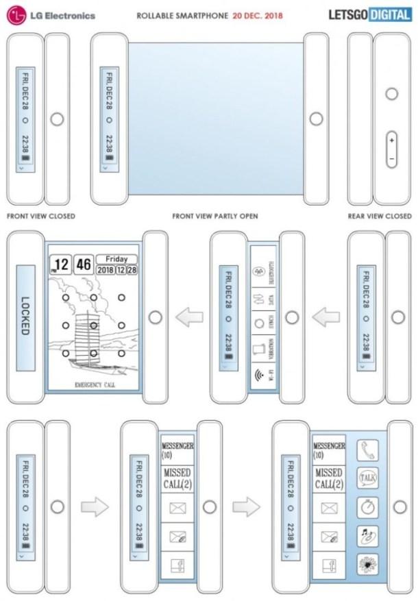 LG brevetta lo smartphone con display arrotolabile