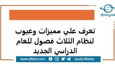 Photo of تعرف علي مميزات وعيوب لنظام الثلاث فصول للعام الدراسي الجديد