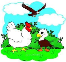 قصة النسر و الدجاج  قصص اطفال