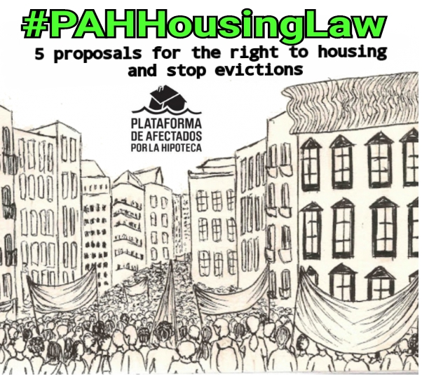 Thanks to social pressure the PAH Housing Law enters the Spanish Congress.