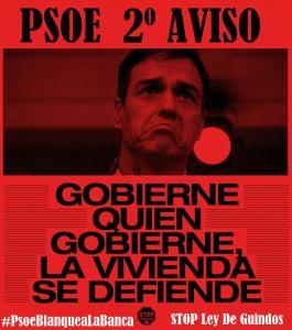 A LOS RESPONSABLES FEDERALES DE VIVIENDA, ECONOMÍA Y JUSTICIA DEL P.S.O.E.