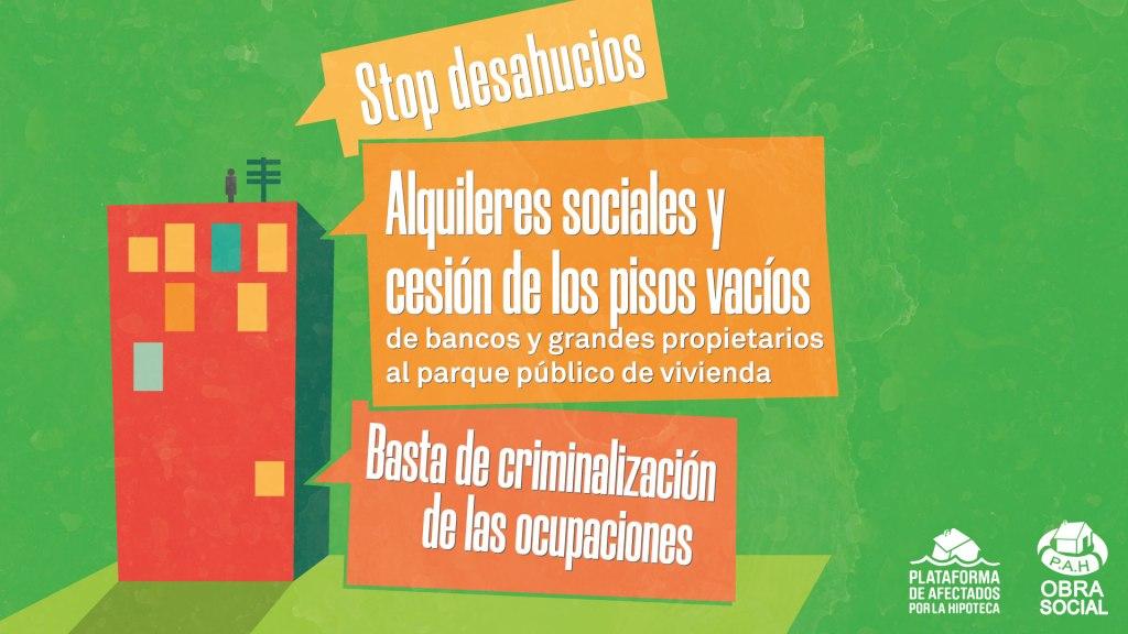 [COMUNICADO] Contra la propuesta de de Ley del PP para criminalizar la ocupación, lanzamos Vivir no es delito.