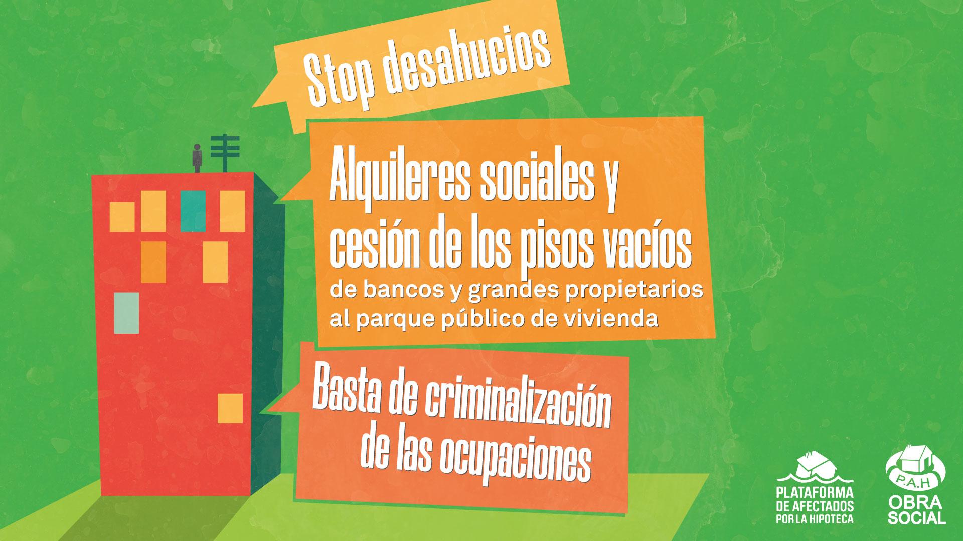 [COMUNICADO] Contra la propuesta de Ley del PP para criminalizar la ocupación, lanzamos «Vivir no es delito»
