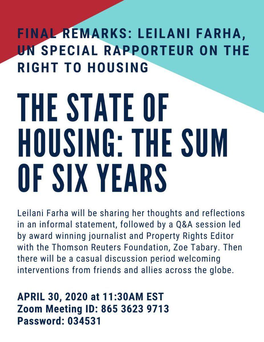 Lee más sobre el artículo La PAH participa en el encuentro con Leilani Farha