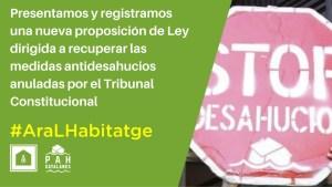 Lee más sobre el artículo Ante los ataques del TC, las PAH Catalanas contraatacan