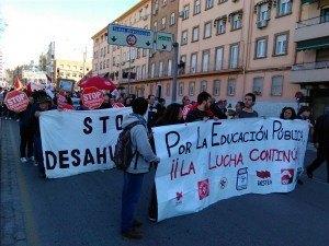Stop desahucios en la huelga estudiantil 3