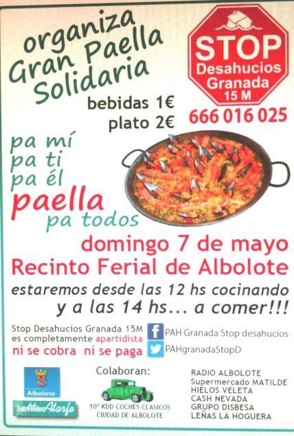 Stop Desahucios Granada. Comida solidaria