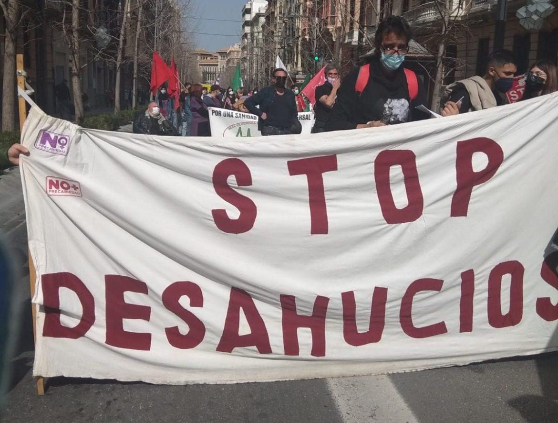 28F Stop Desahucios sale a la calle