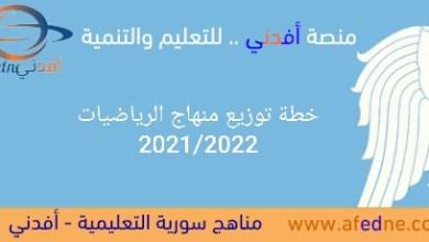 Photo of خطة توزيع منهاج الرياضيات لكافة الصفوف الدراسية2021/2022