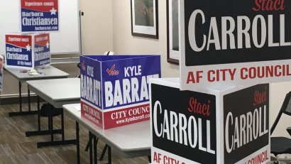 American Fork city council campaign signs