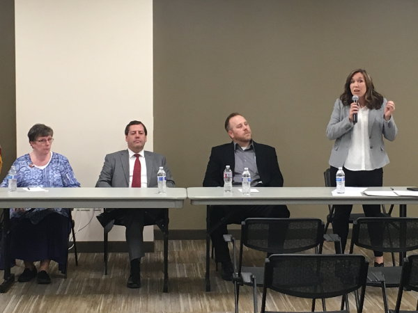 Barbara Christiansen, Jeff Shorter, Kyle Barratt, Staci Carroll (standing)