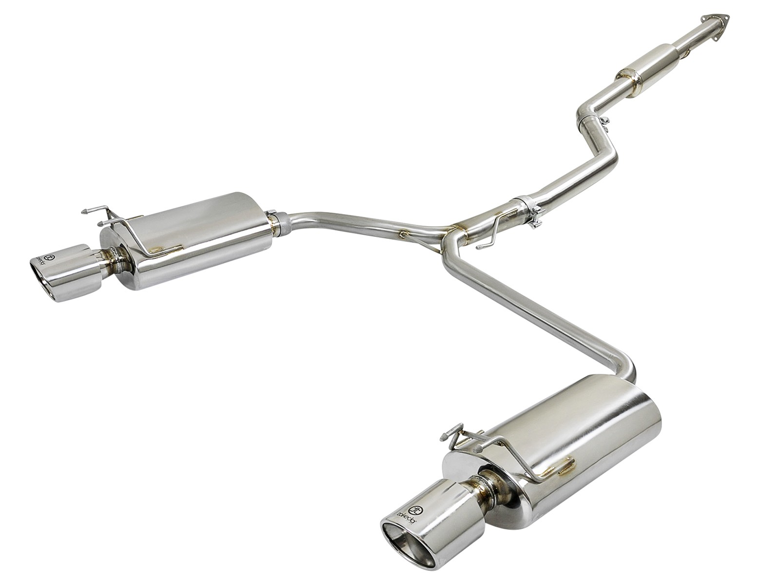 takeda 2 1 2 to dual 1 3 4 304 stainless steel cat back system