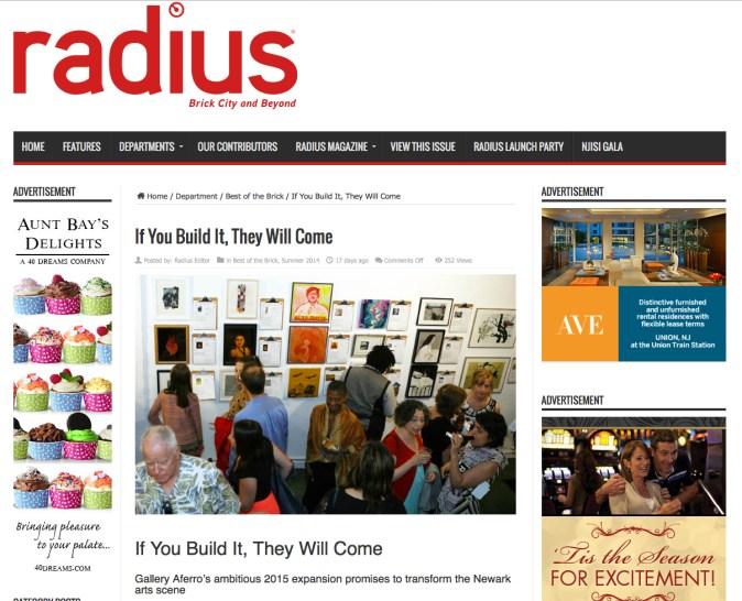 Radius Magazine Article screenshot