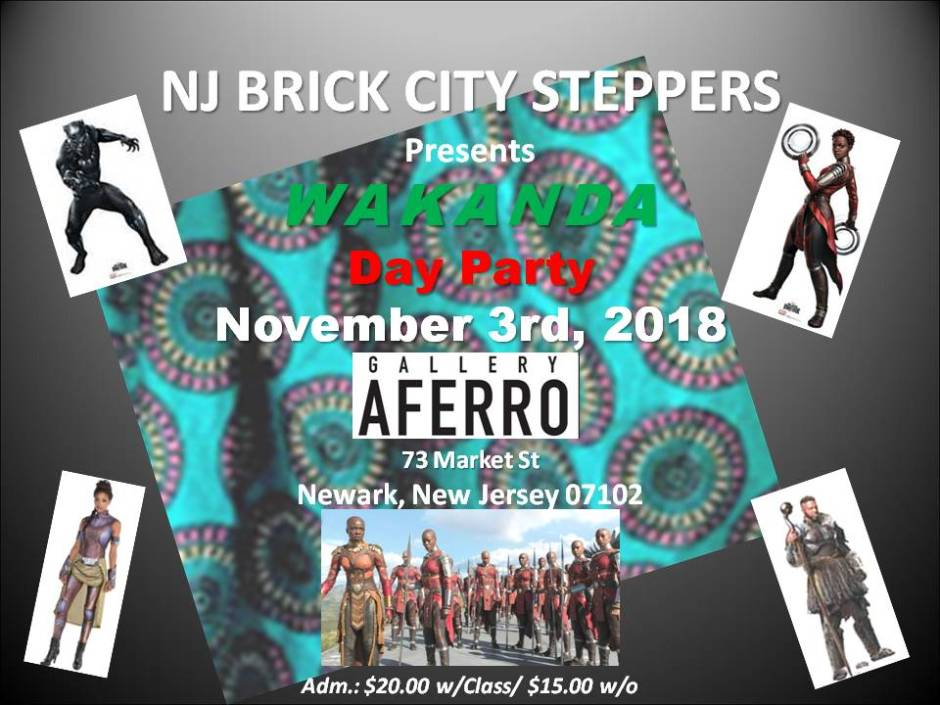 NJBC Steppers Wakanda Day Party