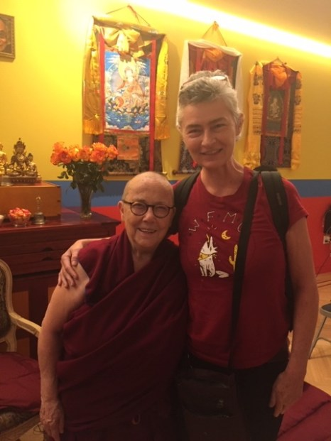Maureen Kelleher with the Venerable Robina Courtin