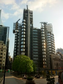 Lloyd's of London building designed the architect RR. Not part of the set of Sound of Music.