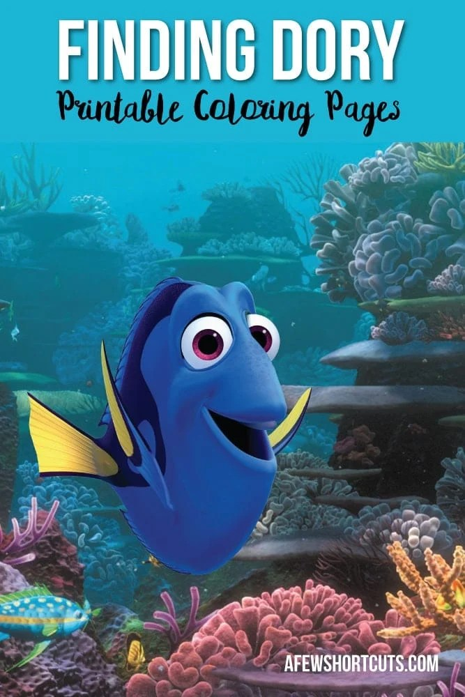 Finding Dory Printable Coloring Pages A Few Shortcuts