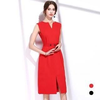BUDELLY Plain Sleeveless Dress