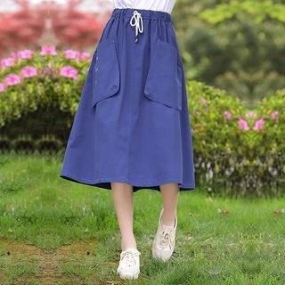 YICON A-Line Midi Skirt