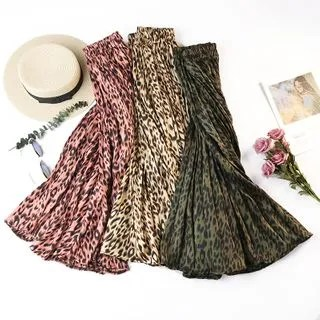 englard Leopard Pleated Skirt