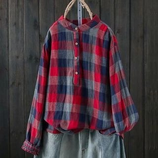 Suzette Plaid Blouse