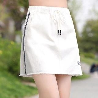 YICON Side Stripe Mini Skirt