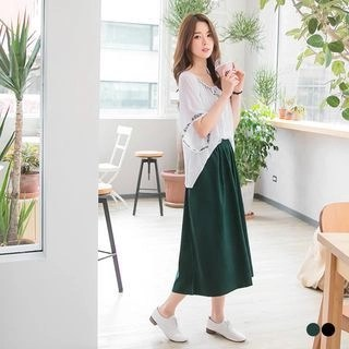 OrangeBear Plain Slim-Fit Boot Cut Trousers