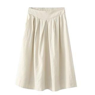 SILHO Plain High-Waist A-Line Skirt