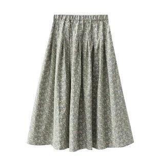 SILHO Floral Print A-Line Skirt