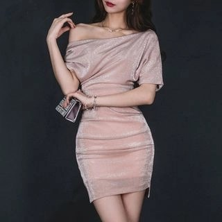 Yilda Off-Shoulder Sheath Dress
