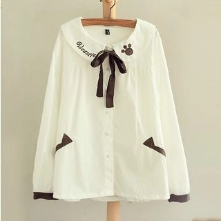 Angel Love Bow Neck Blouse