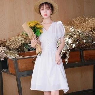 Vanaheim Short-Sleeve A-Line Dress