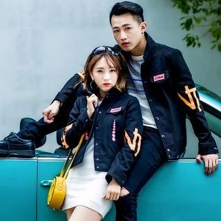 Igsoo Couple Matching Printed Jacket N/A