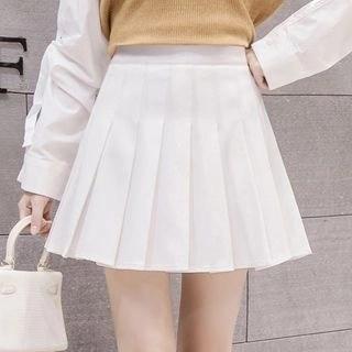 Yipin Mini Pleated A-Line Skirt