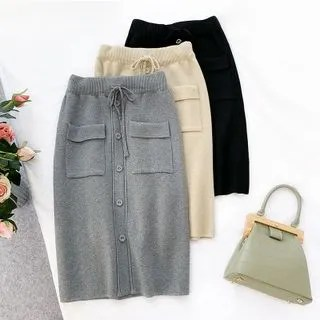 englard Pocketed Knit Skirt