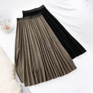 englard Glitter Pleated A-Line Skirt