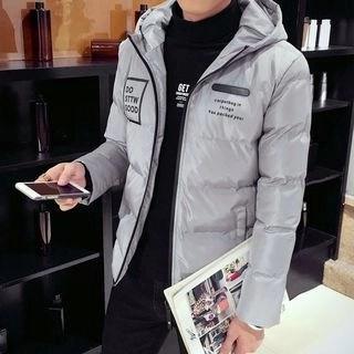 Hooded Padded Jacket Gray