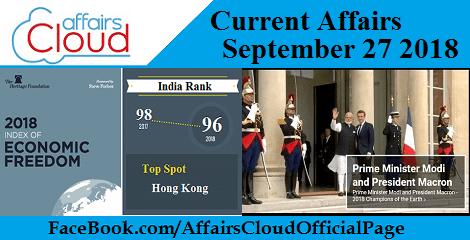 Current Affairs September 27 2018