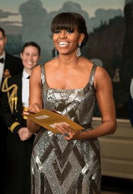 Michelle Obama Wearing Naeem Khan