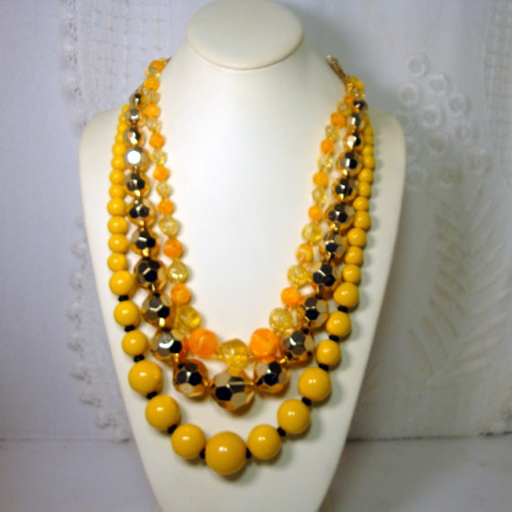 Statement Necklaces by VintageStarrBeads on Etsy