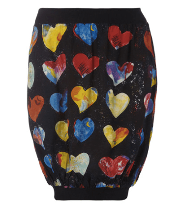 Beth Ditto Heart Bubble Skirt for Evans 2010 Line