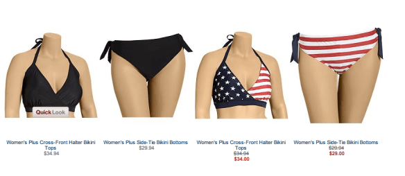Old Navy 4X Bikini and other 4X suits
